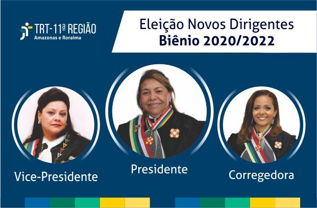TRT-11 elege novos dirigentes para o biênio 2020-2022
