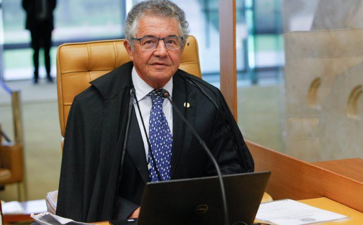 Ministro Marco Aurélio ocupa cadeira do decano no STF pela primeira vez