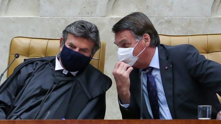 Fux e Bolsonaro conversam sobre indicação de novo ministro do STF
