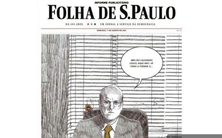 Nelson Williams 'inova' e faz anúncios de páginas inteiras na Folha de São Paulo